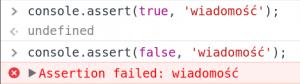 javascript console assert