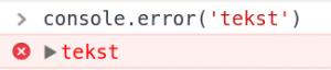 javascript xonsole error