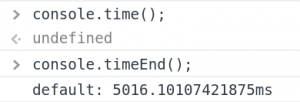 javascript console time